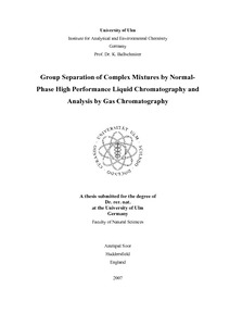 Group separation of complex mixtures by normal-phase high