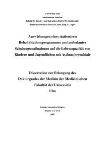 asthma bronchiale dissertation