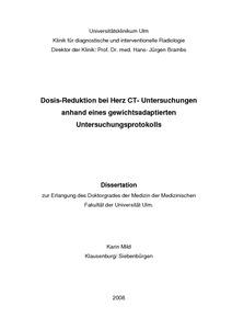 dissertation kardio ct