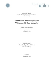 conditional pseudonymity in vehicular ad hoc networks
