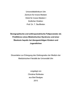 dissertation metabolisches syndrom
