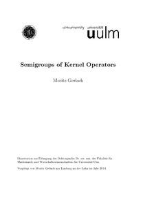 Semigroups of kernel operators for Nc wirtschaftswissenschaften