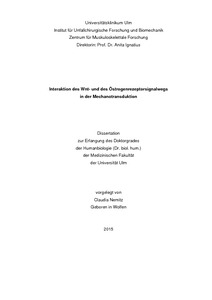 Dissertation and wnt