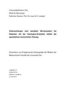 chorea huntington dissertation