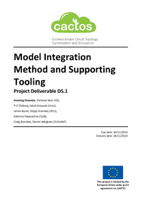 Model integration method and supporting tooling: project deliverable