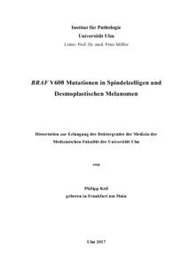 dissertation malignes melanom