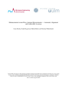 Enhancements in mm-wave antenna measurements: automatic alignment
