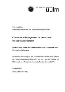 Commodity Management Im Deutschen Industriegüterbereich
